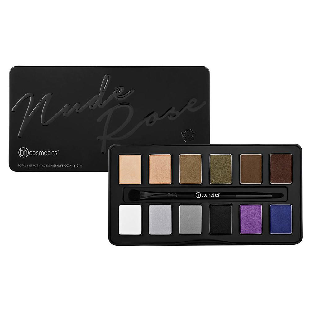 BH Cosmetics 12 Color Eyeshadow Palette Nude Rose Night Fall