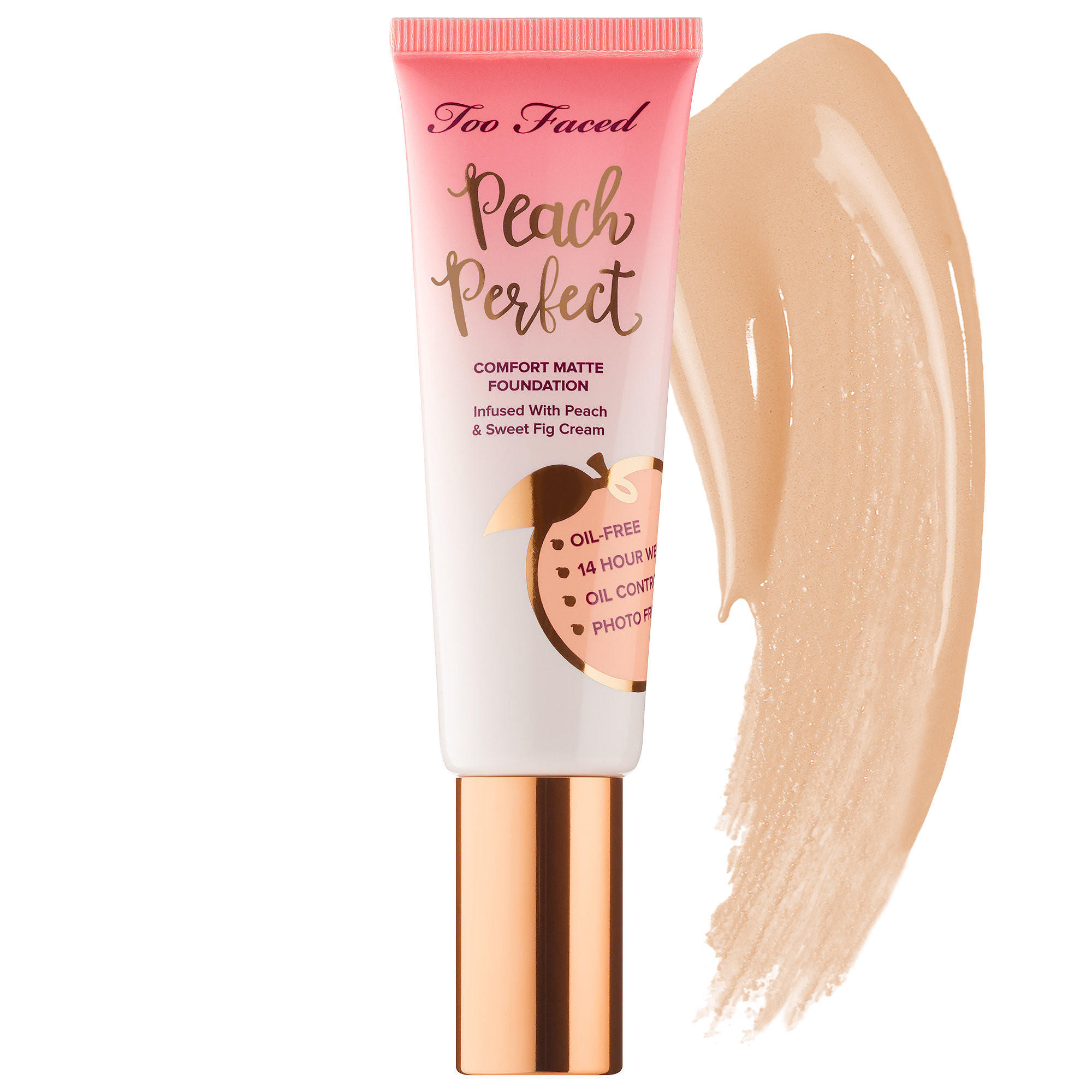 Too Faced Peach Perfect Comfort Matte Foundation Nude