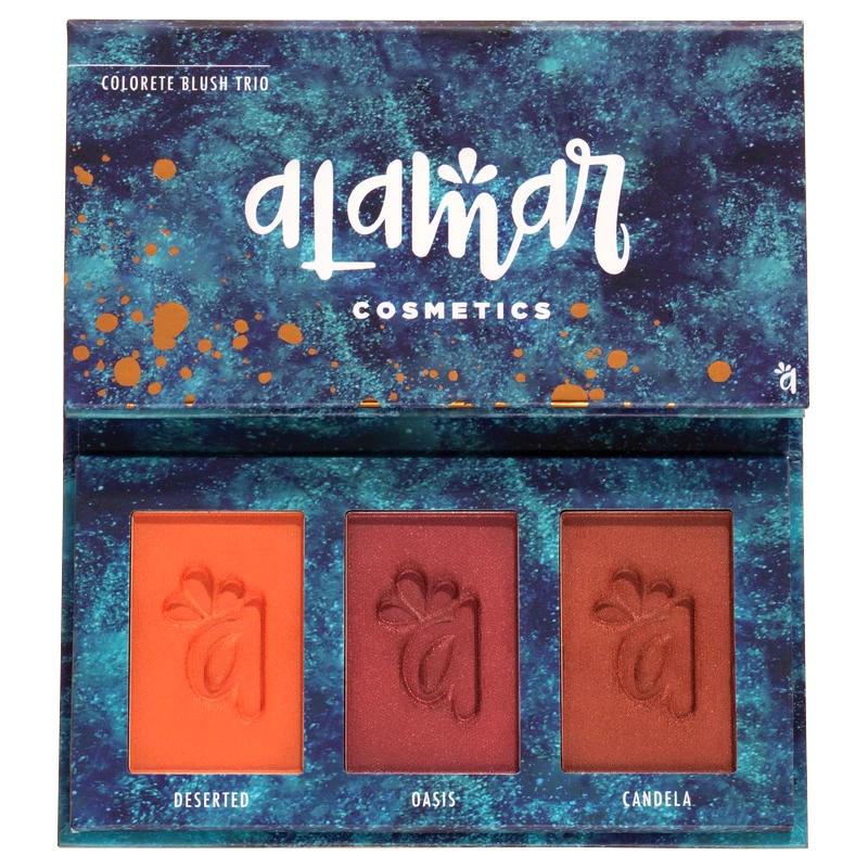 Alamar Cosmetics Colorete Blush Trio Palette Dark-Rich