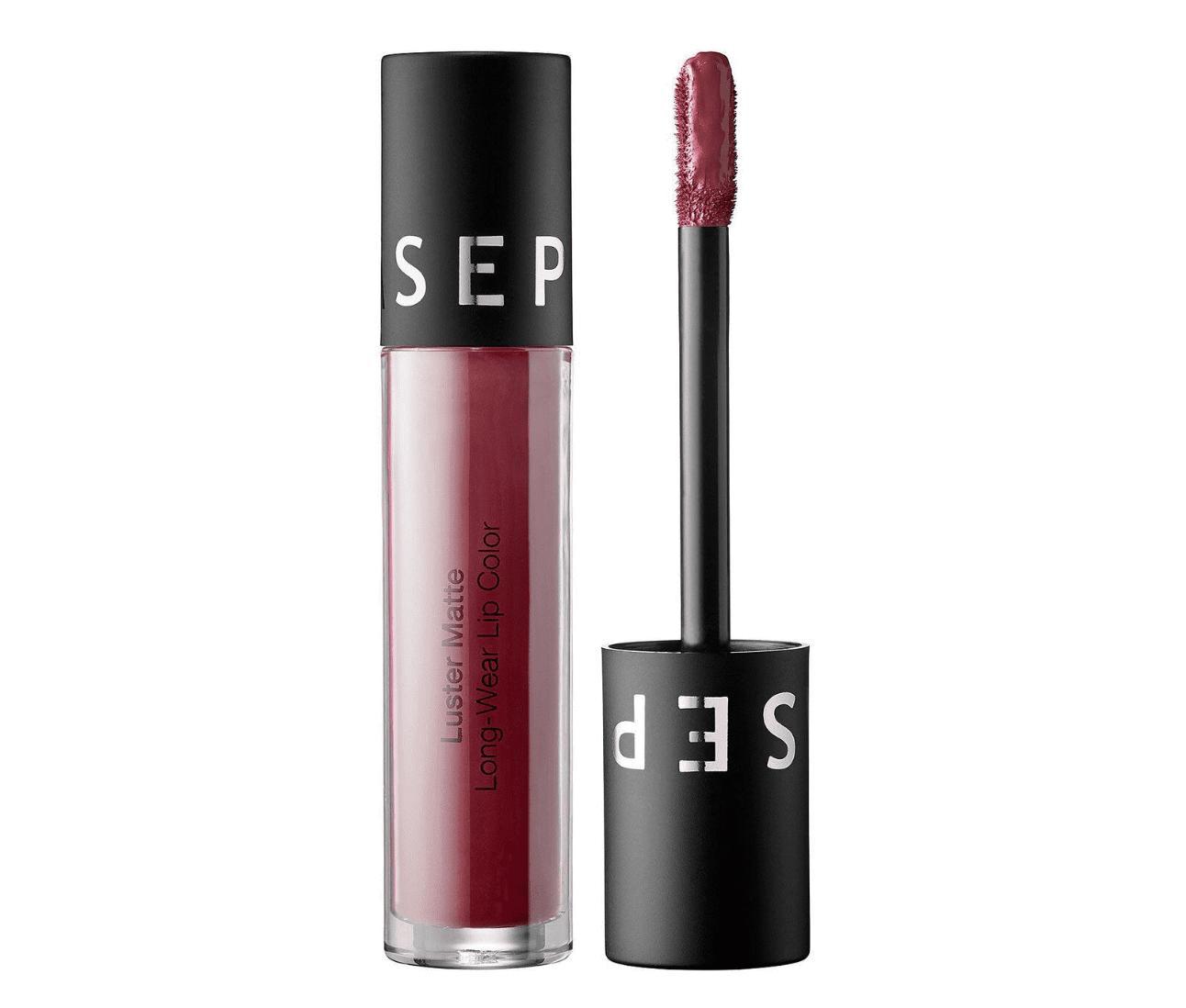Sephora Luster Matte Long-Wear Lip Color Deep Plum Luster