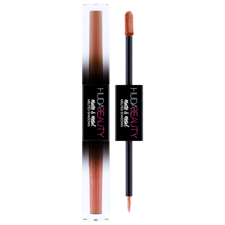 Huda Beauty Matte & Metal Melted Eyeshadows Cinnamon Toast & Hella Honey
