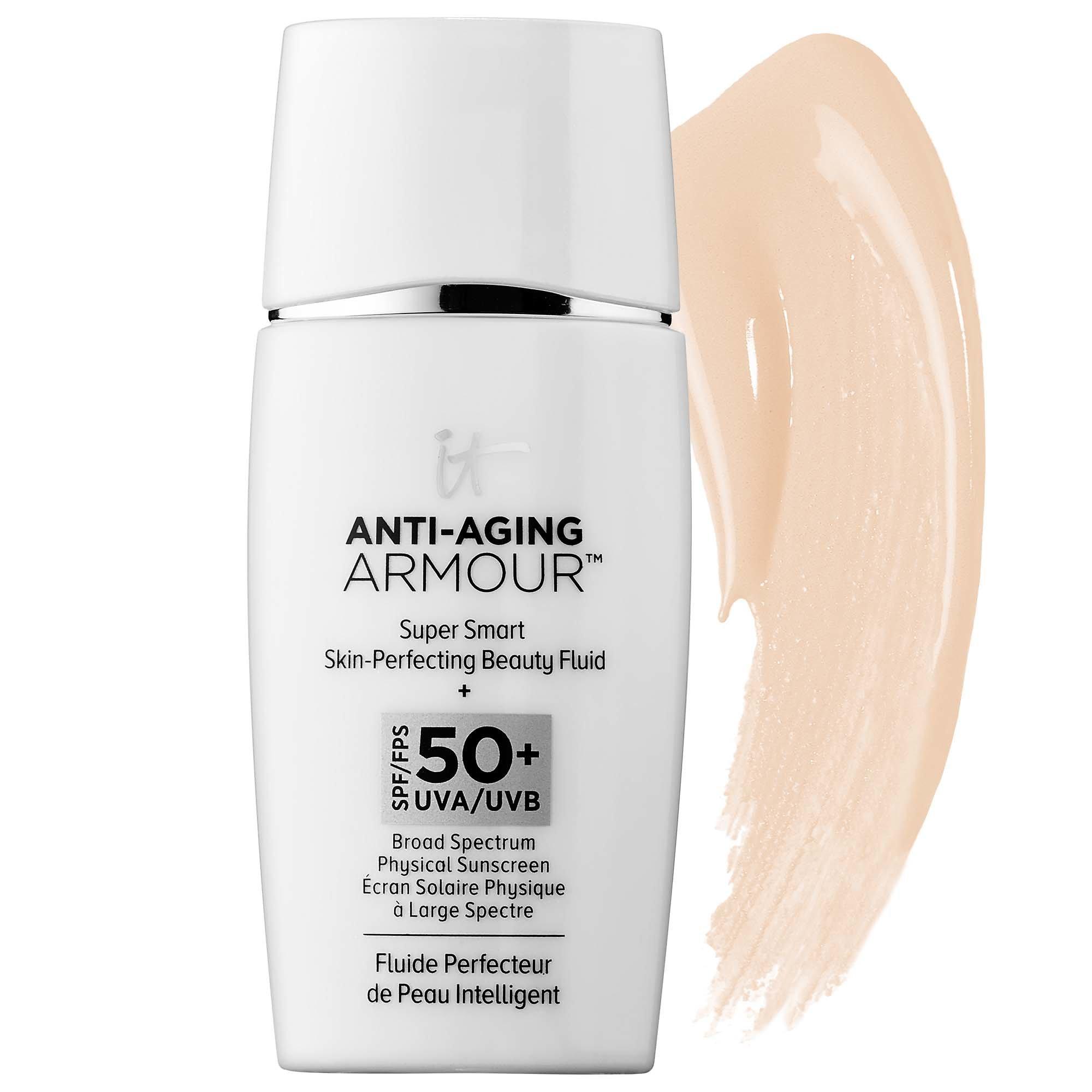 IT Cosmetics Anti-Aging Armour Super Smart Skin-Perfecting Beauty Fluid SPF 50+