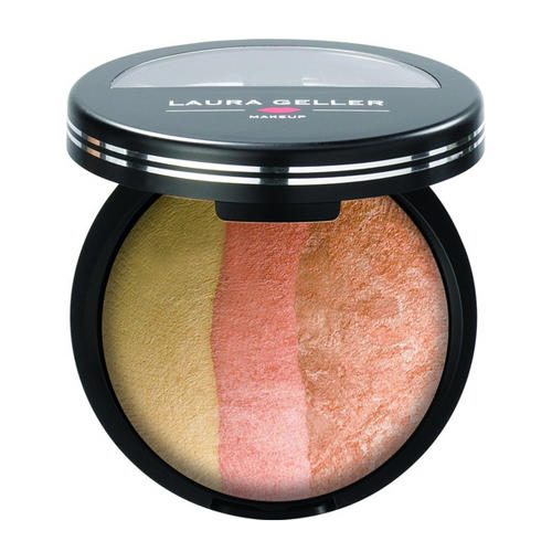 Laura Geller Baked Cheek Dreams Highlighter & Blush Trio Vanilla Peach Cobbler
