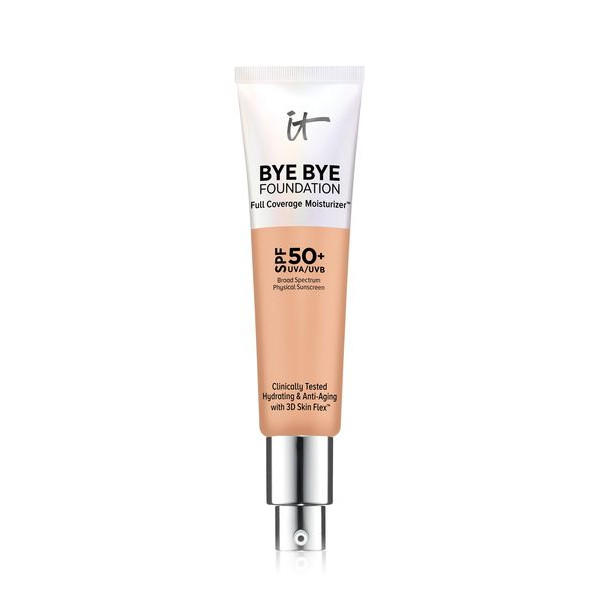 IT Cosmetics Bye Bye Foundation Full-Coverage Moisturizer Medium Tan