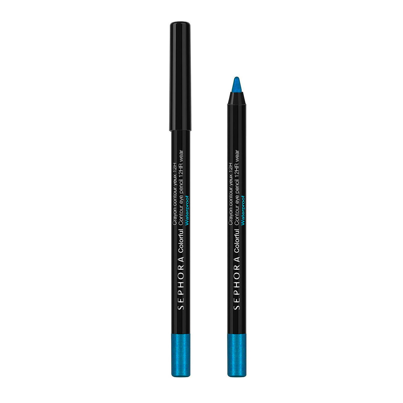 Sephora Colorful Waterproof Eye Contour Pencil Peacock Blue 50