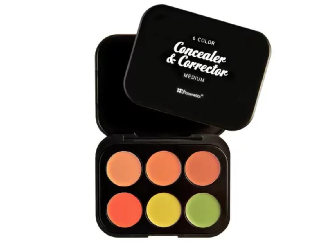 BH Cosmetics 6 Color Concealer & Corrector Palette Medium