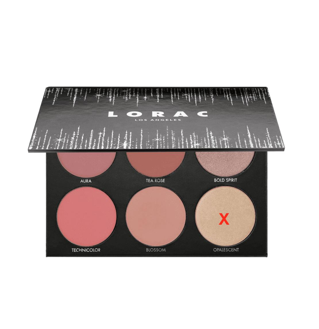 LORAC Shine Bright Color Source & Light Source Cheek Palette (without opalescent)