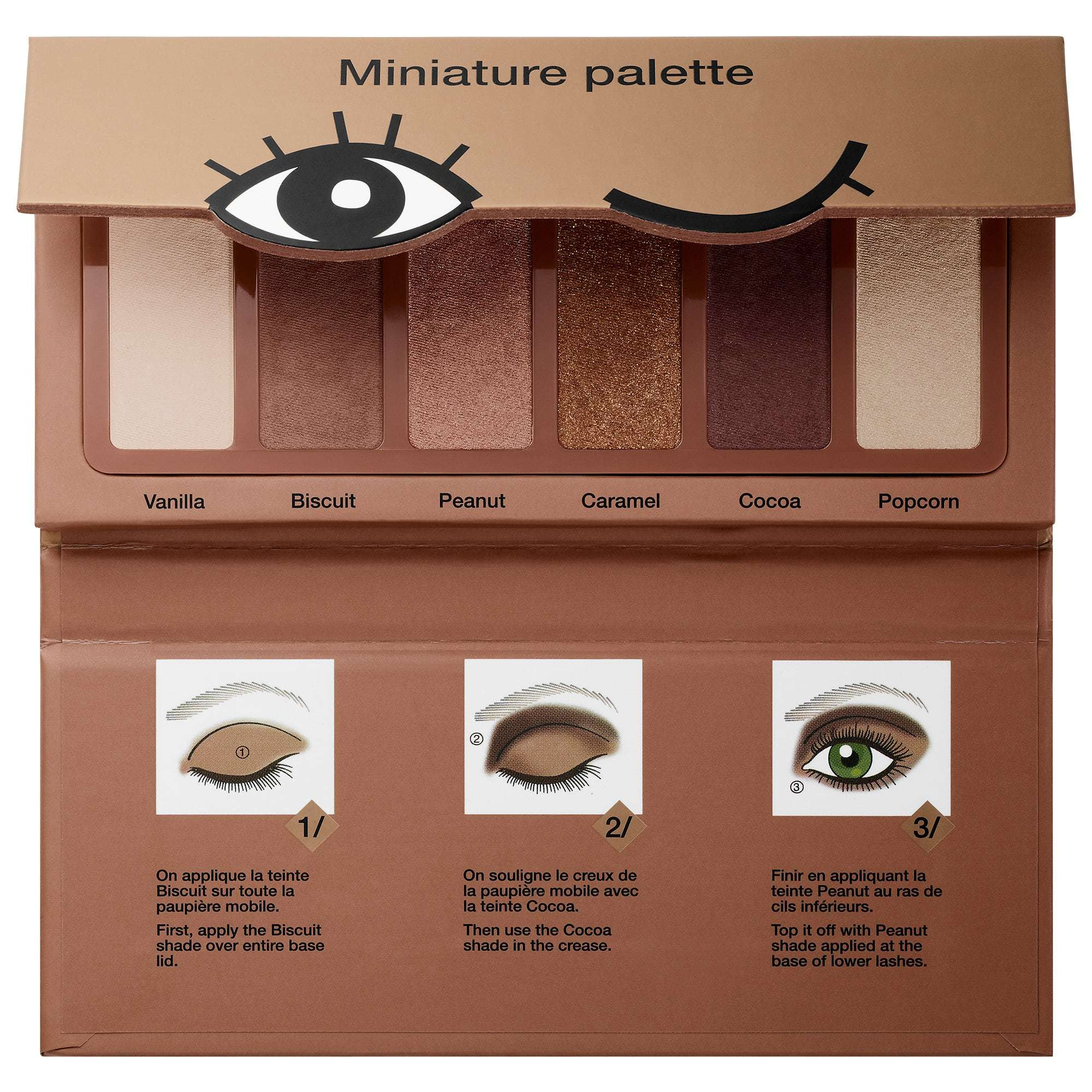 Sephora Miniature Eyeshadow Palette Cookie Shades