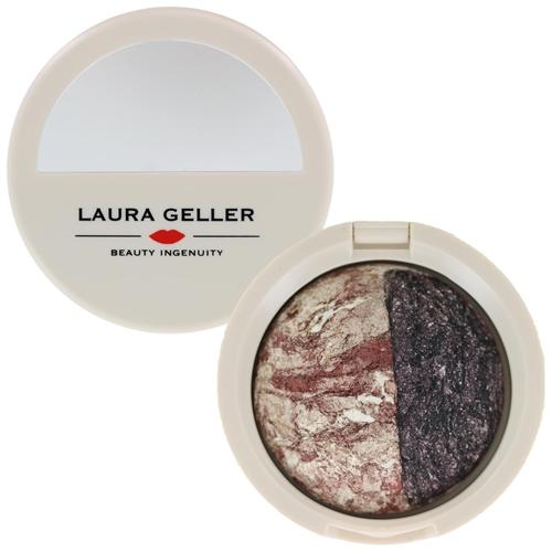 Laura Geller Baked Marble Eyeshadow/Eye Rimz Vanilla Toffee/Black Cherry