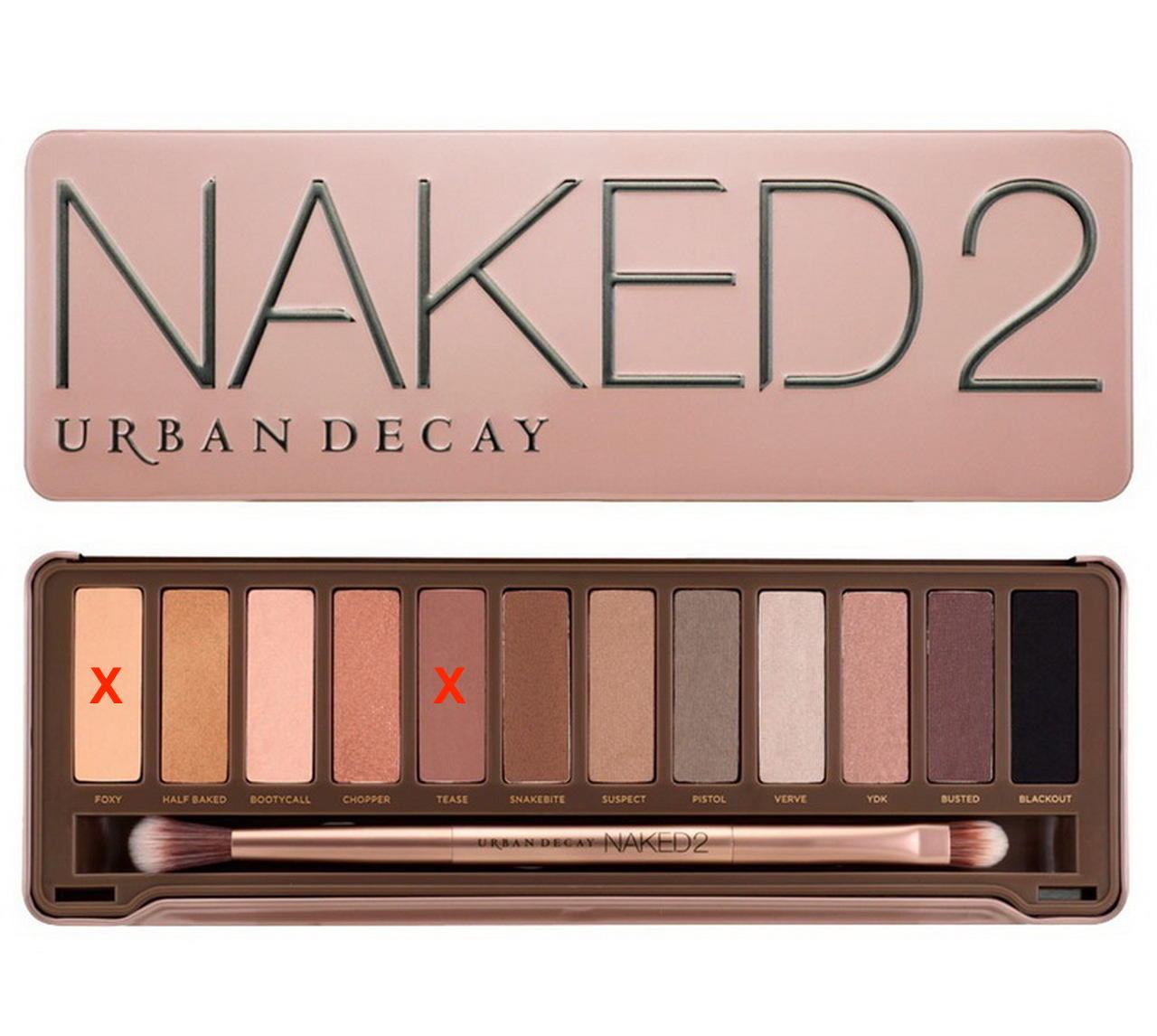 Urban Decay NAKED 2 Eyeshadow Palette (without foxy and tease)