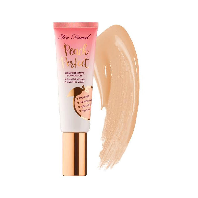 Too Faced Peach Perfect Comfort Matte Foundation Warm Beige