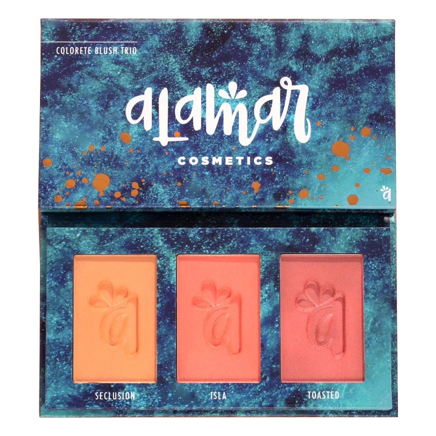 Alamar Cosmetics Colorete Blush Trio Palette Medium-Tan