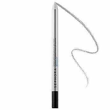 Sephora Contour Brushed Metal Gel Eyeliner Waterproof Silver Coin 02