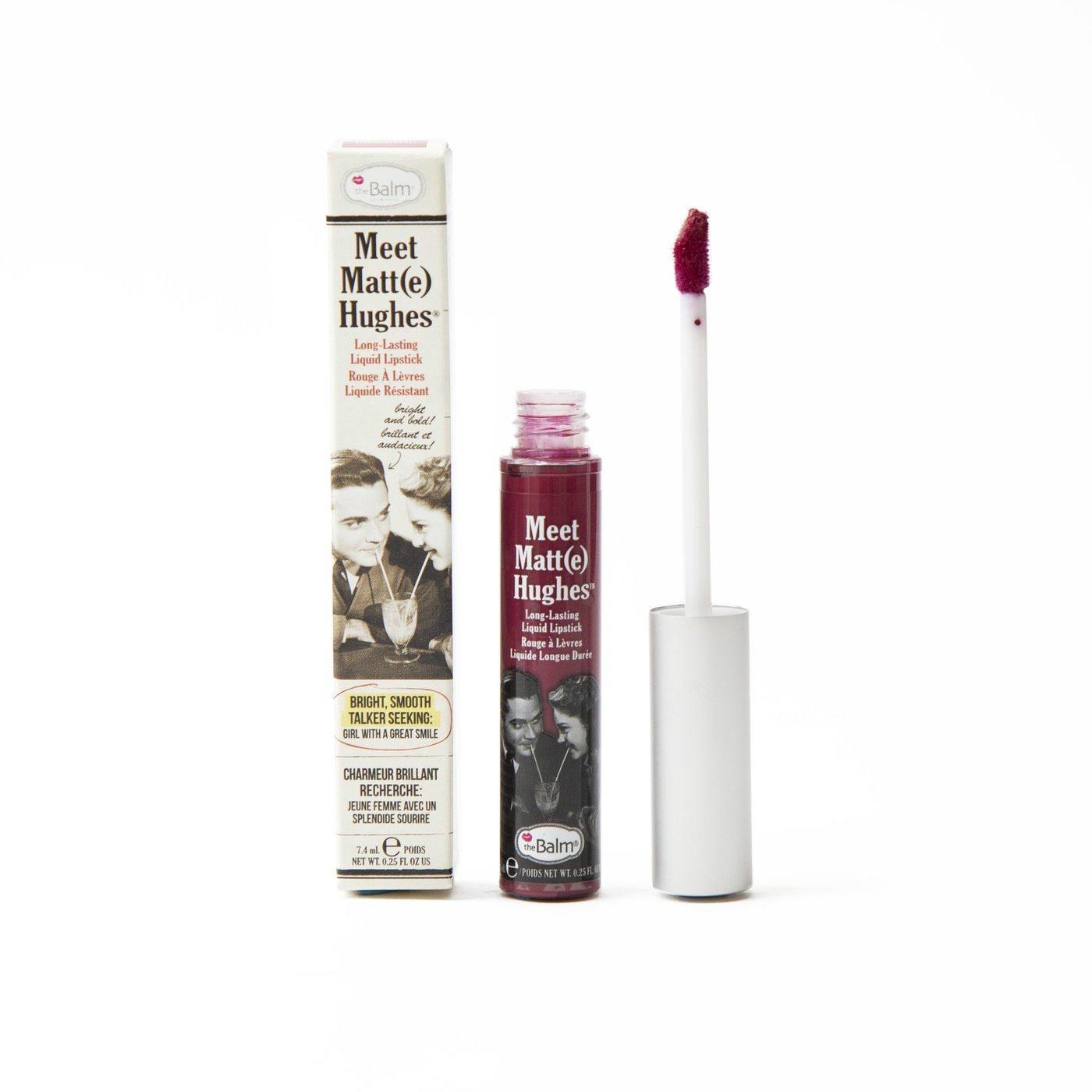 The Balm Long-Lasting Liquid Lipstick Meet Matt(e) Hughes Romantic