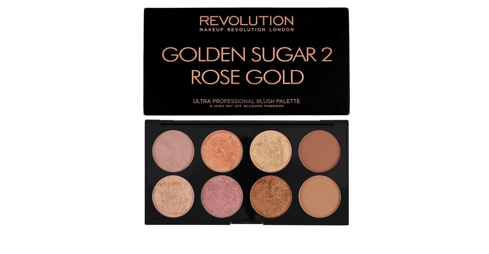 Revolution Ultra Blush Palette Golden Sugar 2 Rose Gold