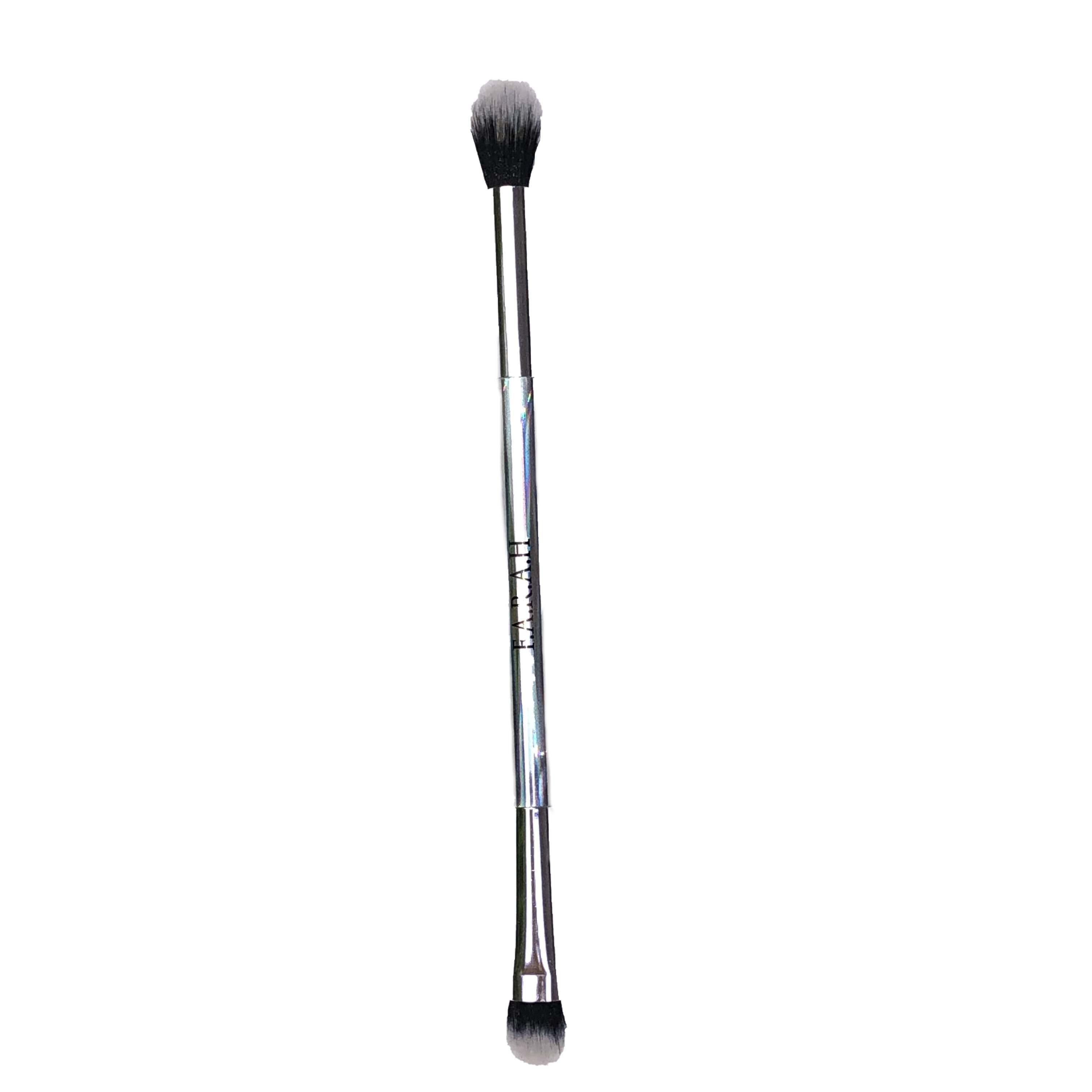 FARAH Cosmetics Dual-Ended Eye Shadow Brush Silver