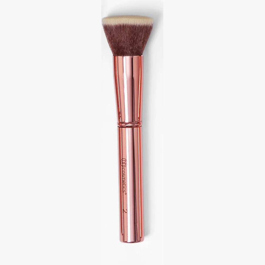 BH Cosmetics Metal Rose Flat Buffer Brush 2