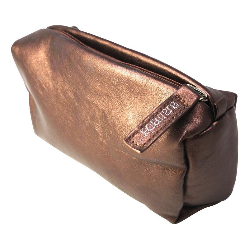 Laura Mercier Bronzed Copper Medium Zip Makeup Bag