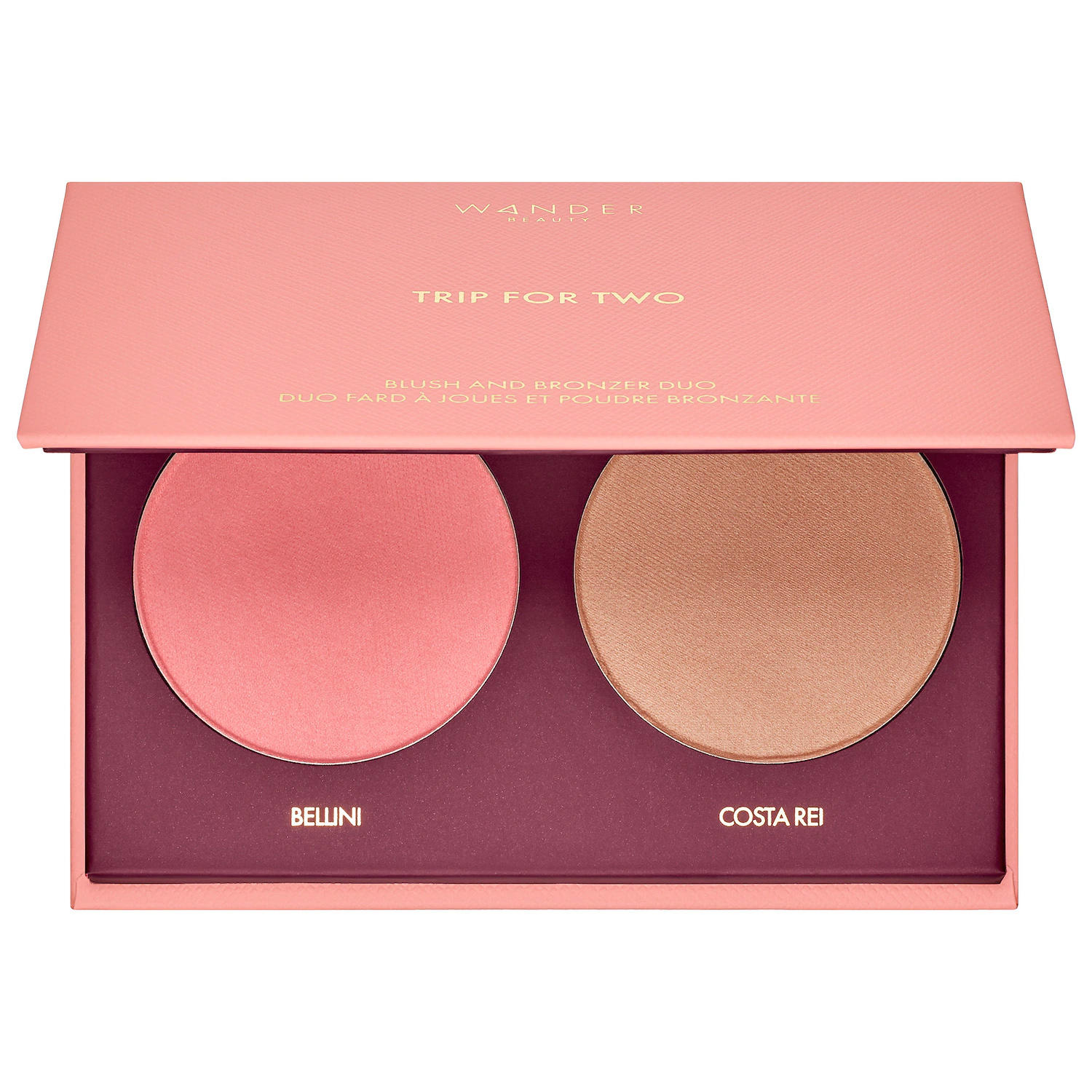 Wander Beauty Trip For Two Blush & Bronzer Duo Bellini/Costa Rei