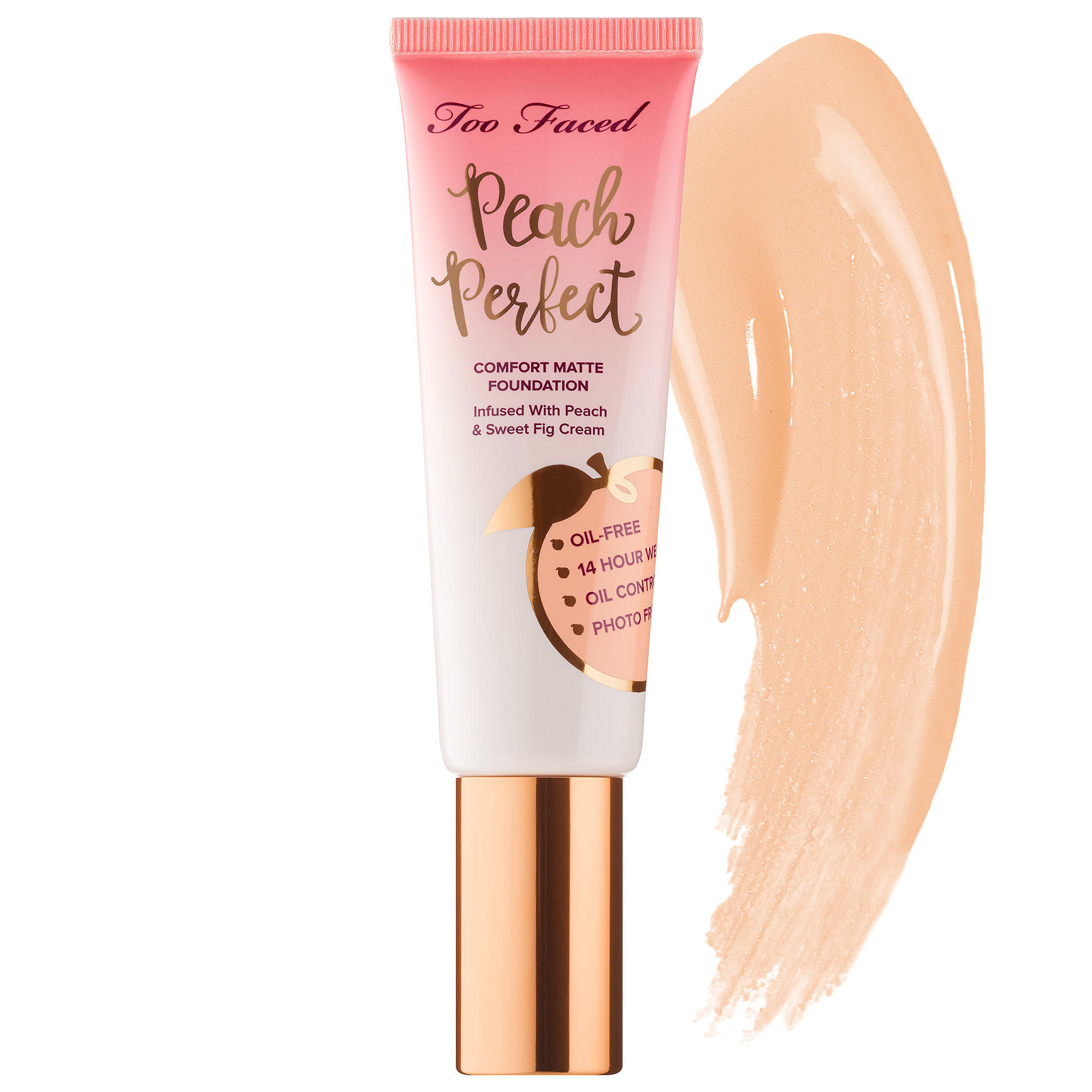Too Faced Peach Perfect Comfort Matte Foundation Snow