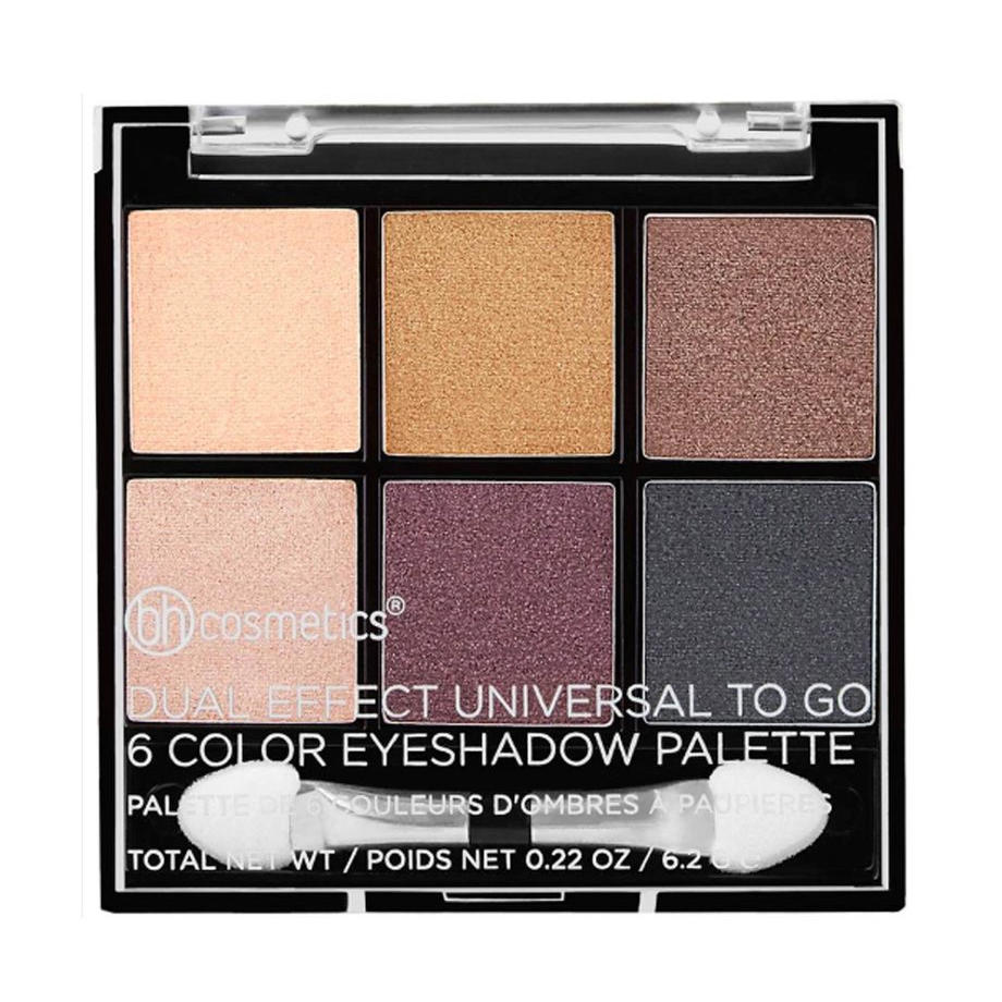 BH Cosmetics 6 Color Eyeshadow Palette Dual Effect Universal To Go