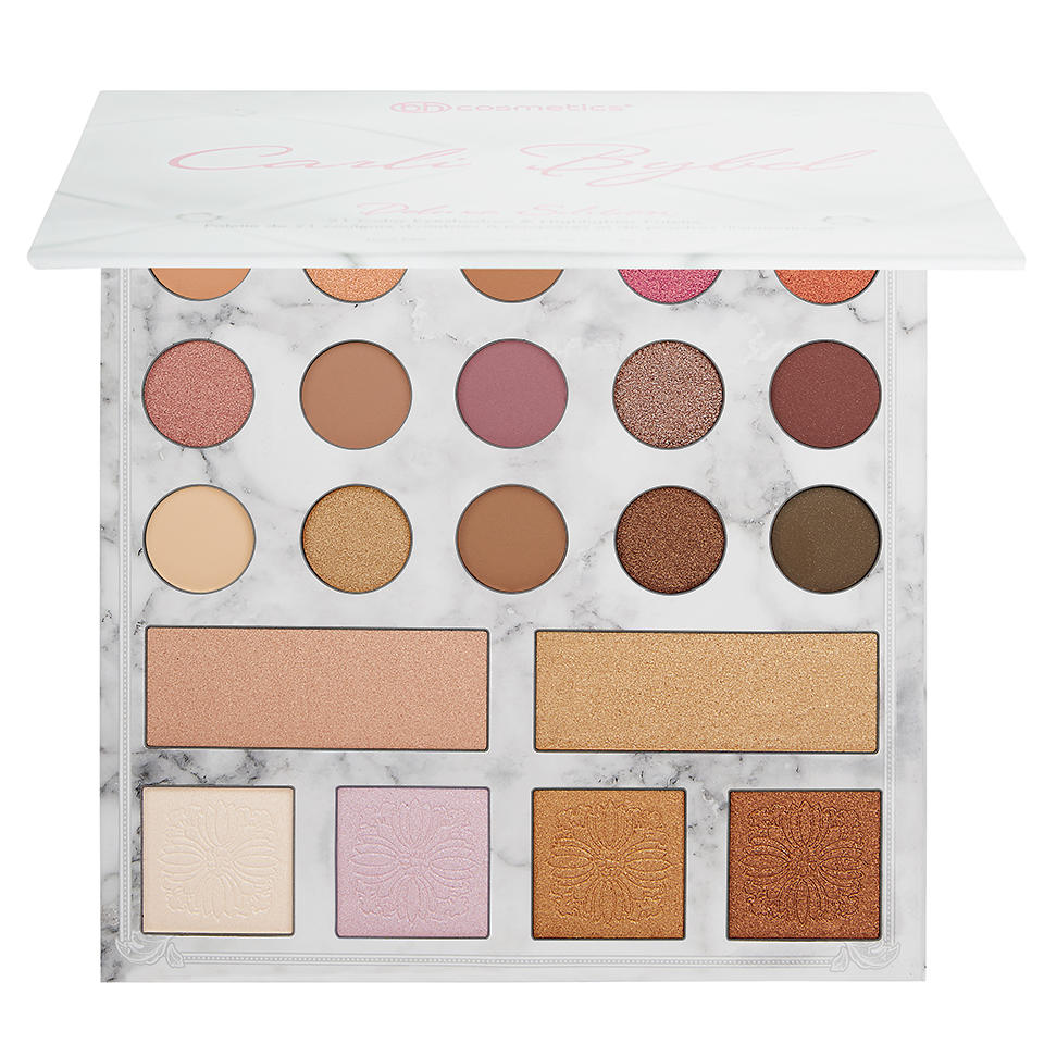 Bh Cosmetics 21 Color Eyeshadow & Highlighter Palette Carli Bybel Deluxe Edition
