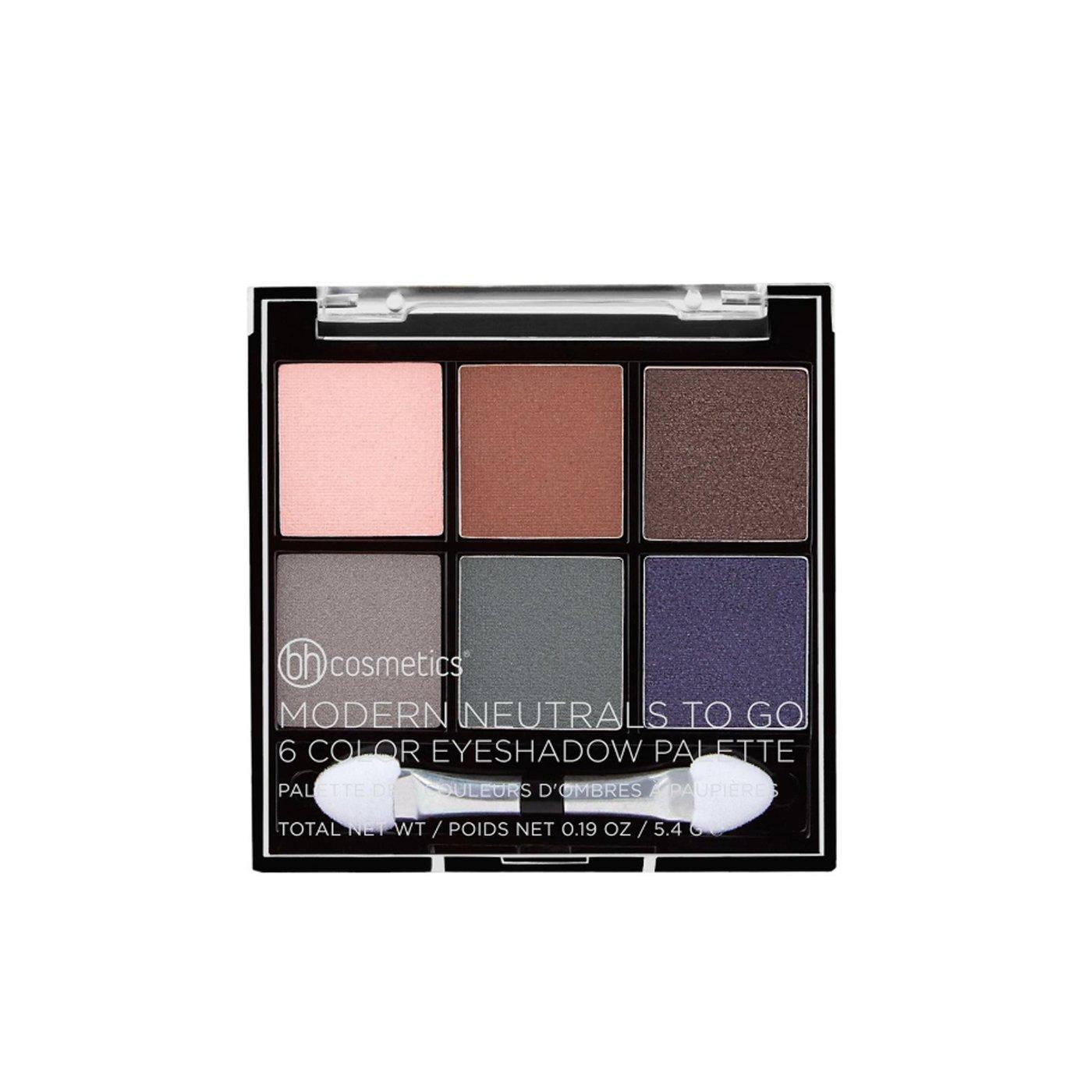 BH Cosmetics 6 Color Eyeshadow Palette Modern Neutrals To Go