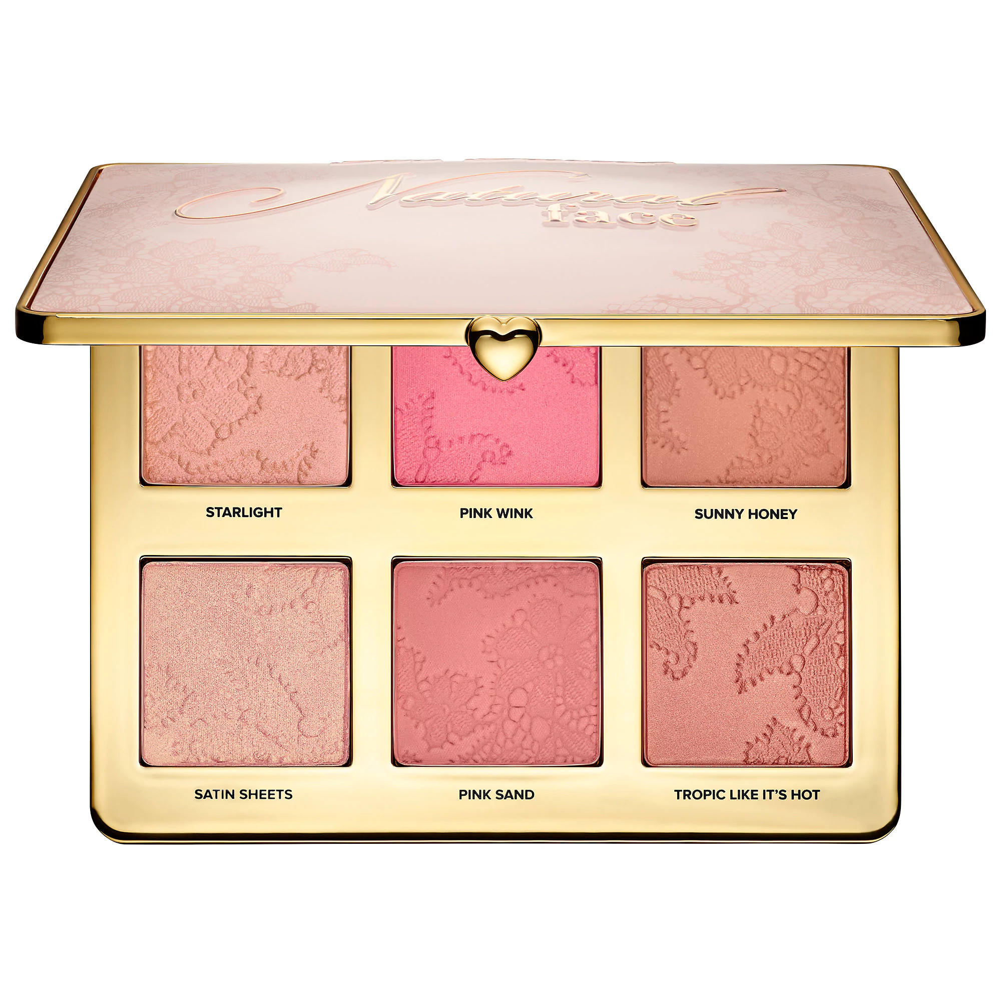 Too Faced Highlight, Blush, And Bronzing Veil Natural Face Palette