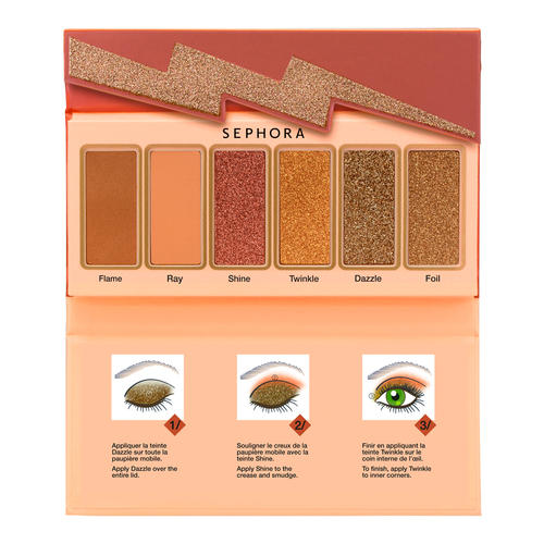 Sephora Flash Sequins Miniature Palette Peach Gold