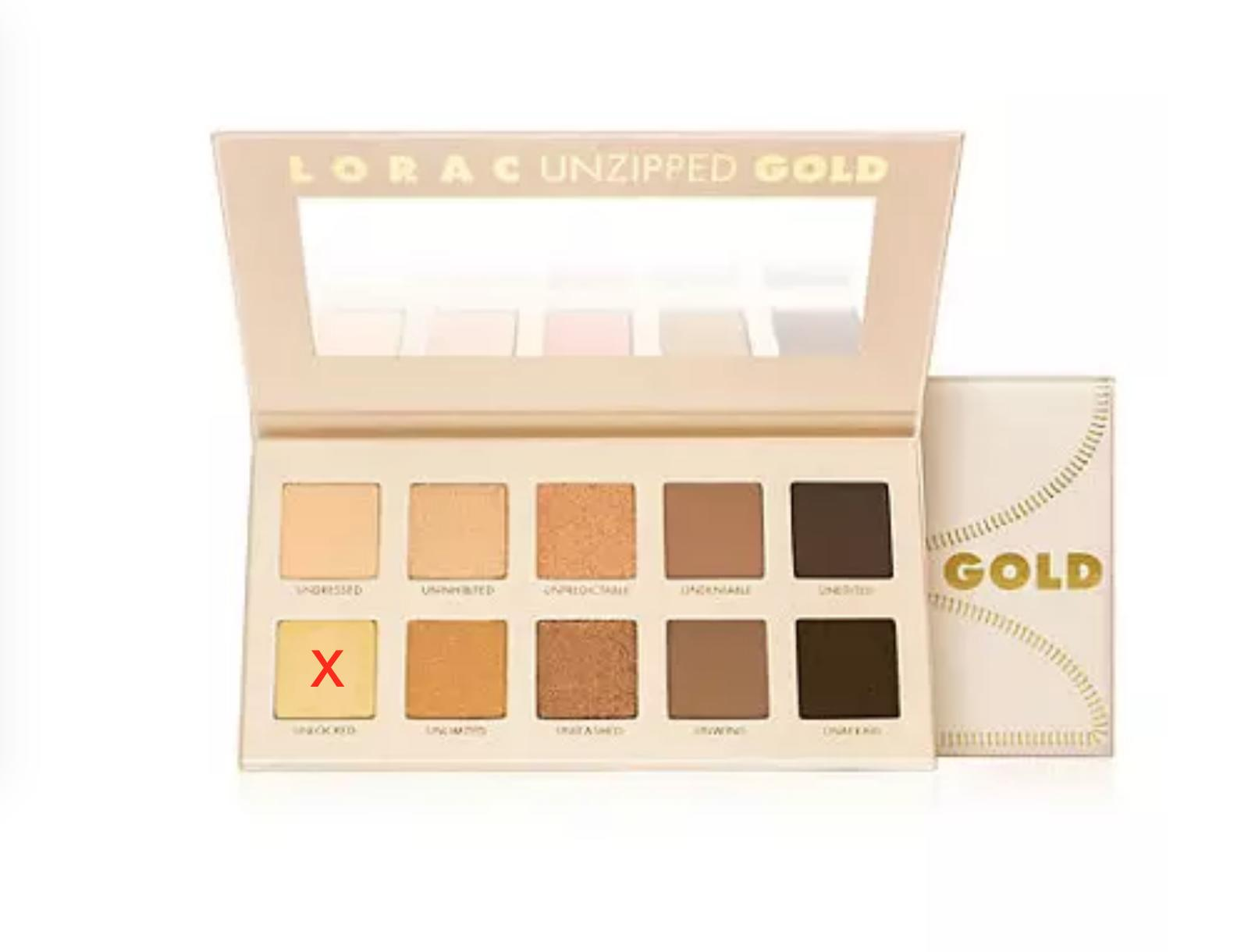 LORAC Unzipped Gold Palette (without unlocked)