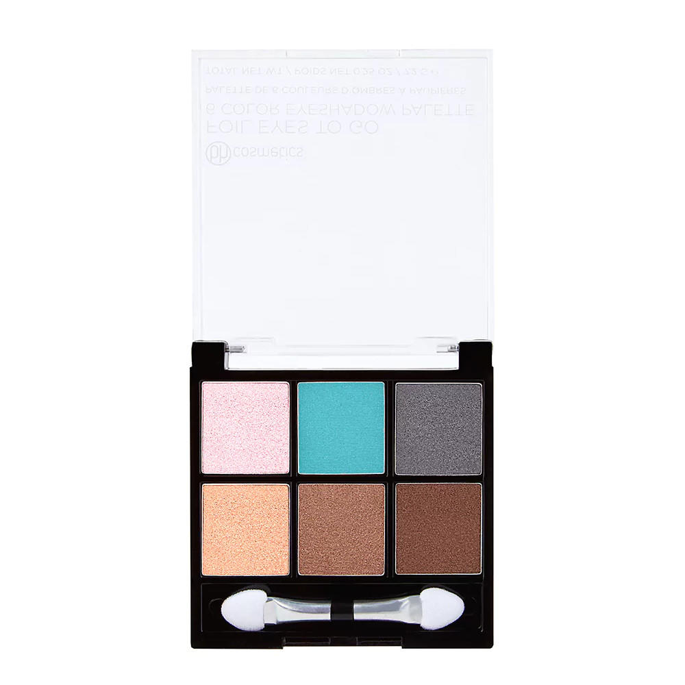 BH Cosmetics 6 Color Eyeshadow Palette Foil Eyes To Go