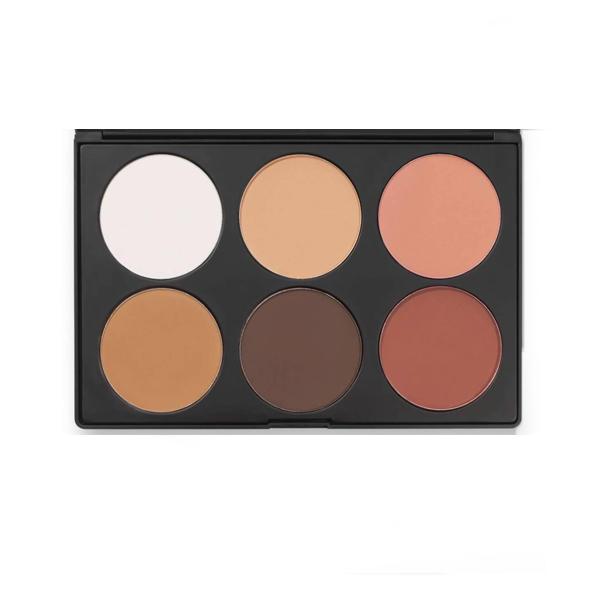 BH Cosmetics Contour & Blush 6 Color Palette 2