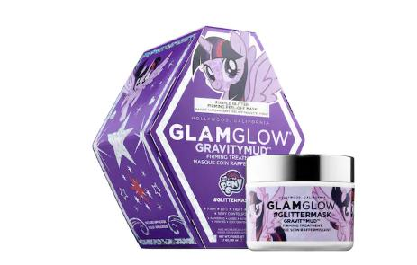 GLAMGLOW #GLITTERMASK GRAVITYMUD Firming Treatment Purple Glitter My Little Pony Collection