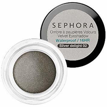 Sephora Velvet Eyeshadow Waterproof Silver Delight 02