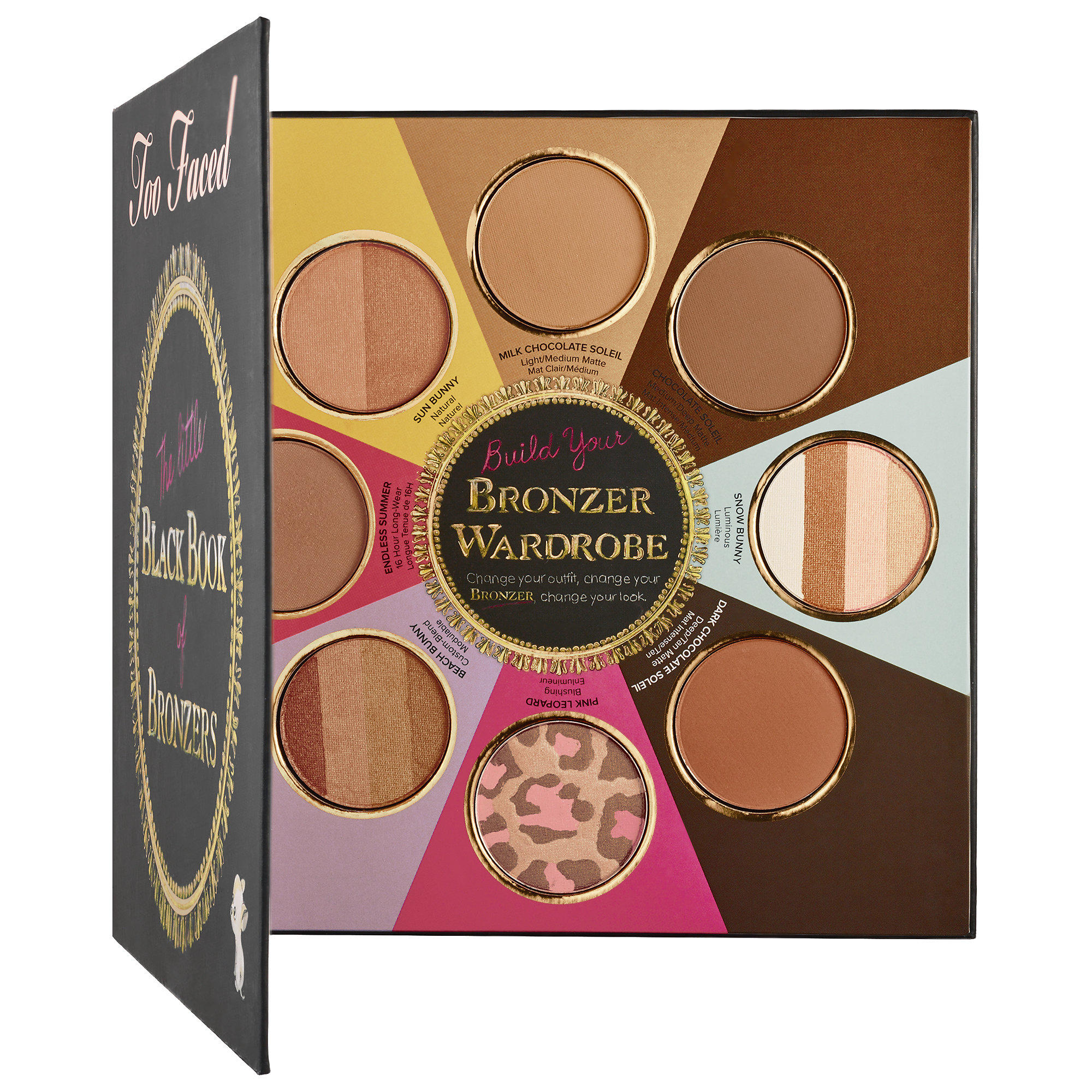 Too Faced The Little Black Book of Bronzers Palette