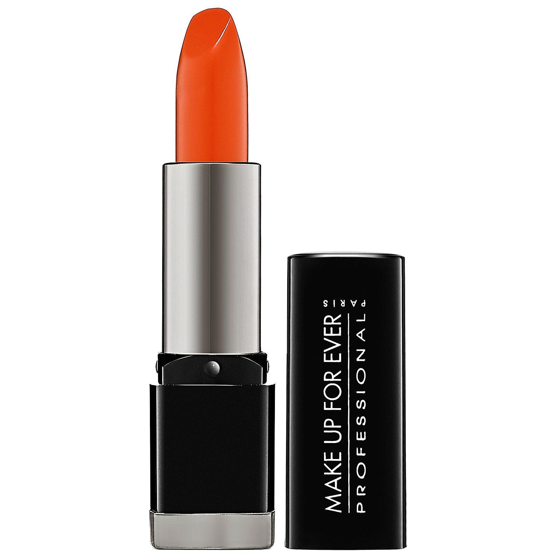 Makeup Forever Rouge Artist Intense Lipstick Satin Bright Orange 40