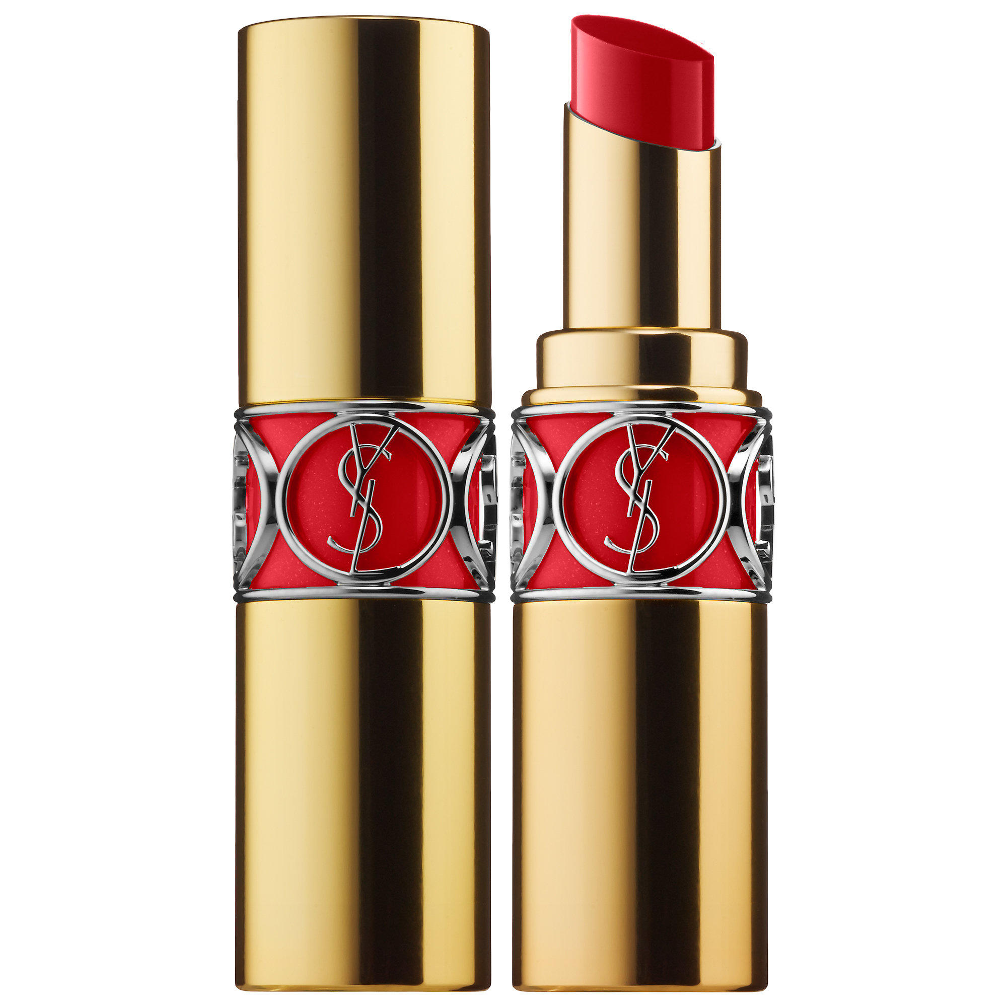YSL Rouge Volupte Silky Sensual Radiant Lipstick Red Taboo 18