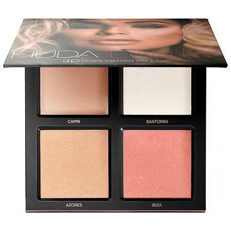 Huda Beauty 3D Highlighter Palette Pink Sands Edition