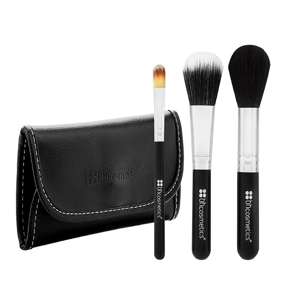 BH Cosmetics Face Essential To Go 3 Piece Brush Set