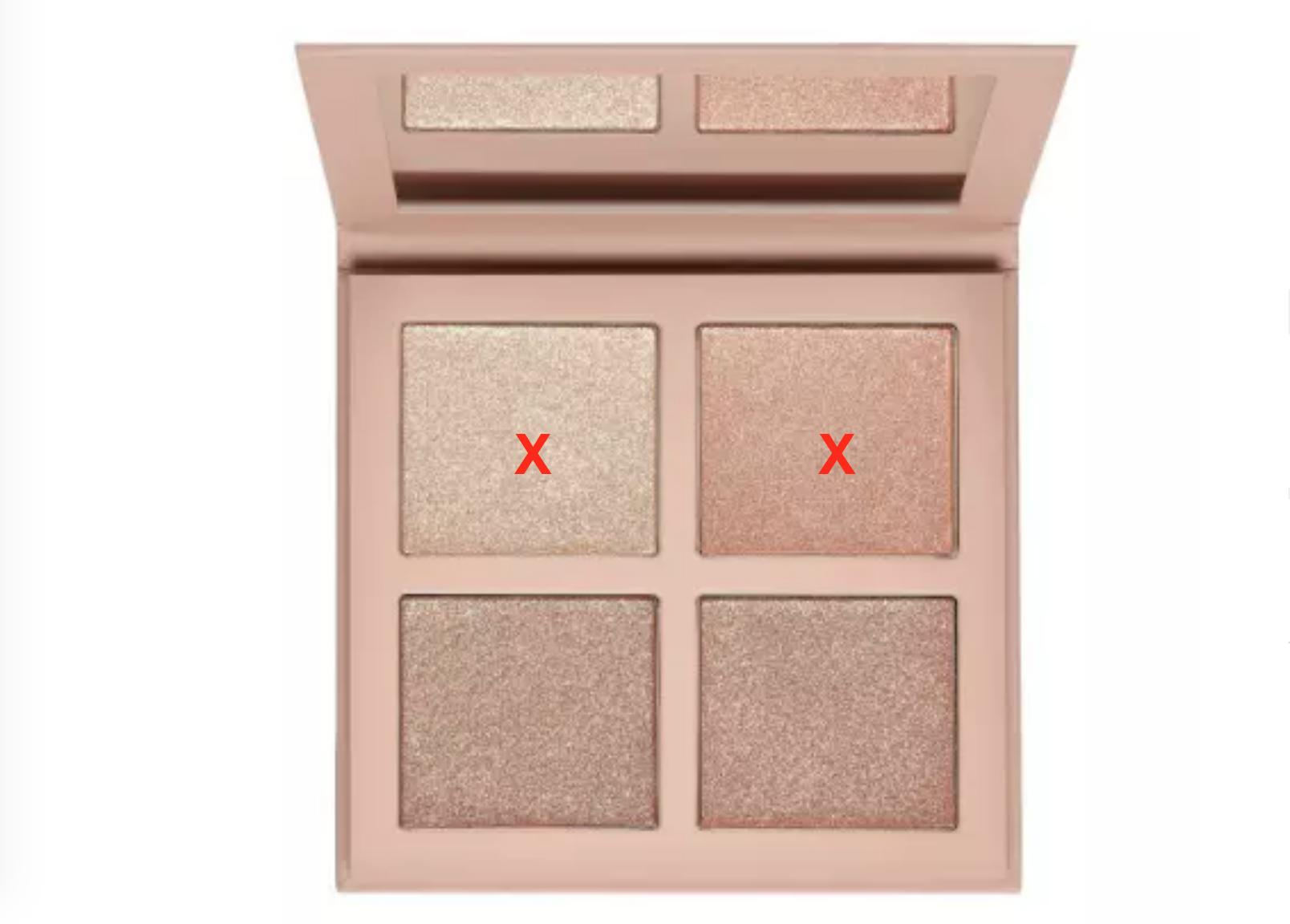 KKW Beauty Highlighter Palette 2 (without 2 colors)