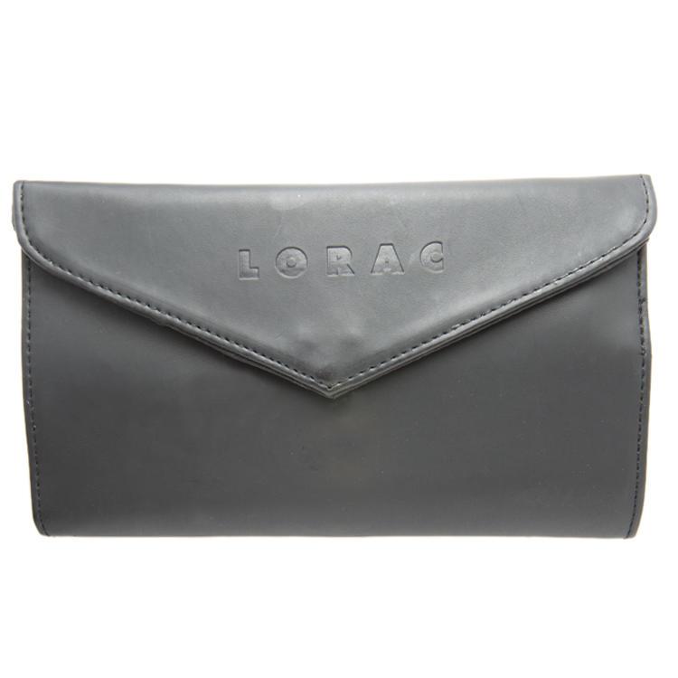 Lorac Matte Black Brush Holder Bag