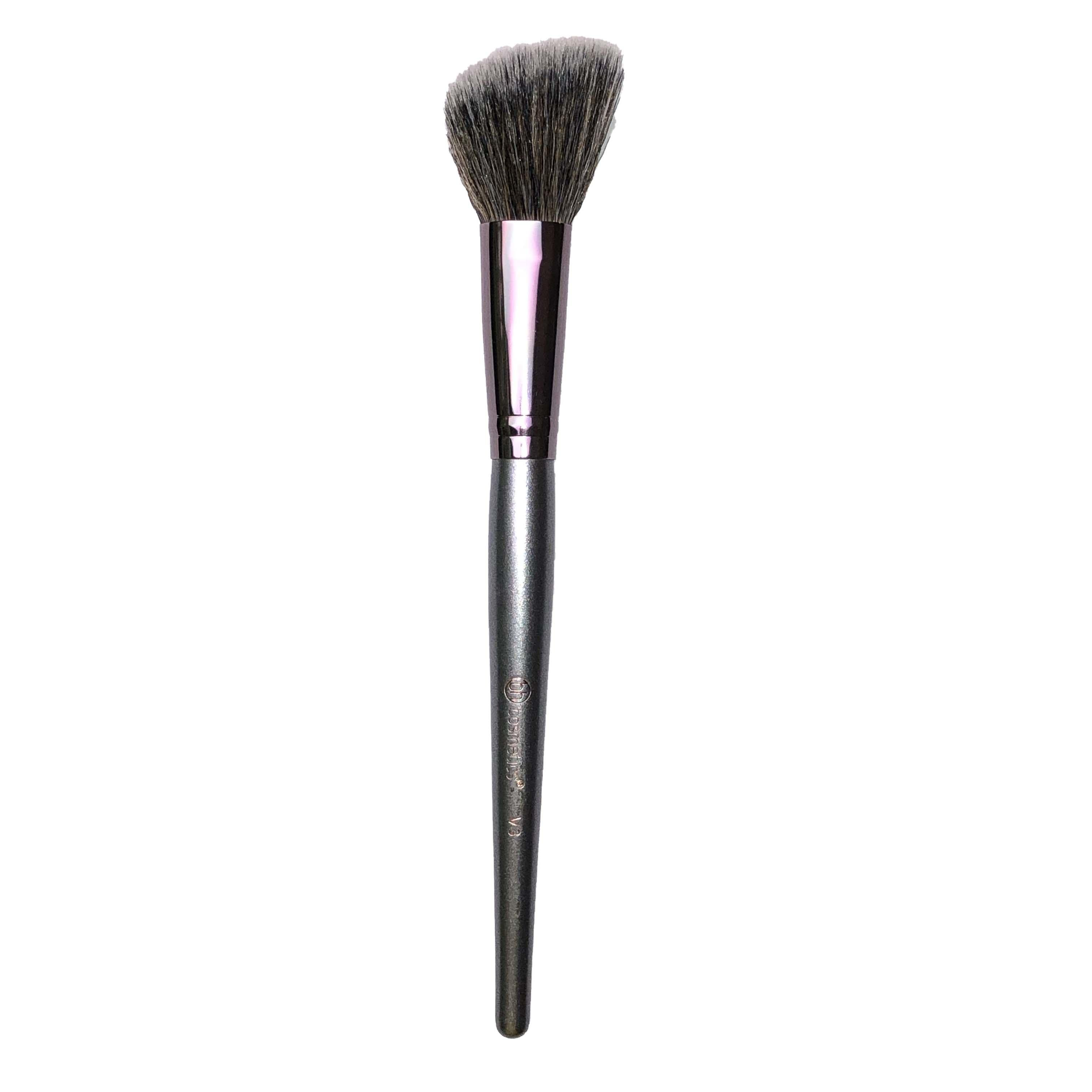 BH Cosmetics Angled Cheek Defining Blush Brush Pewter