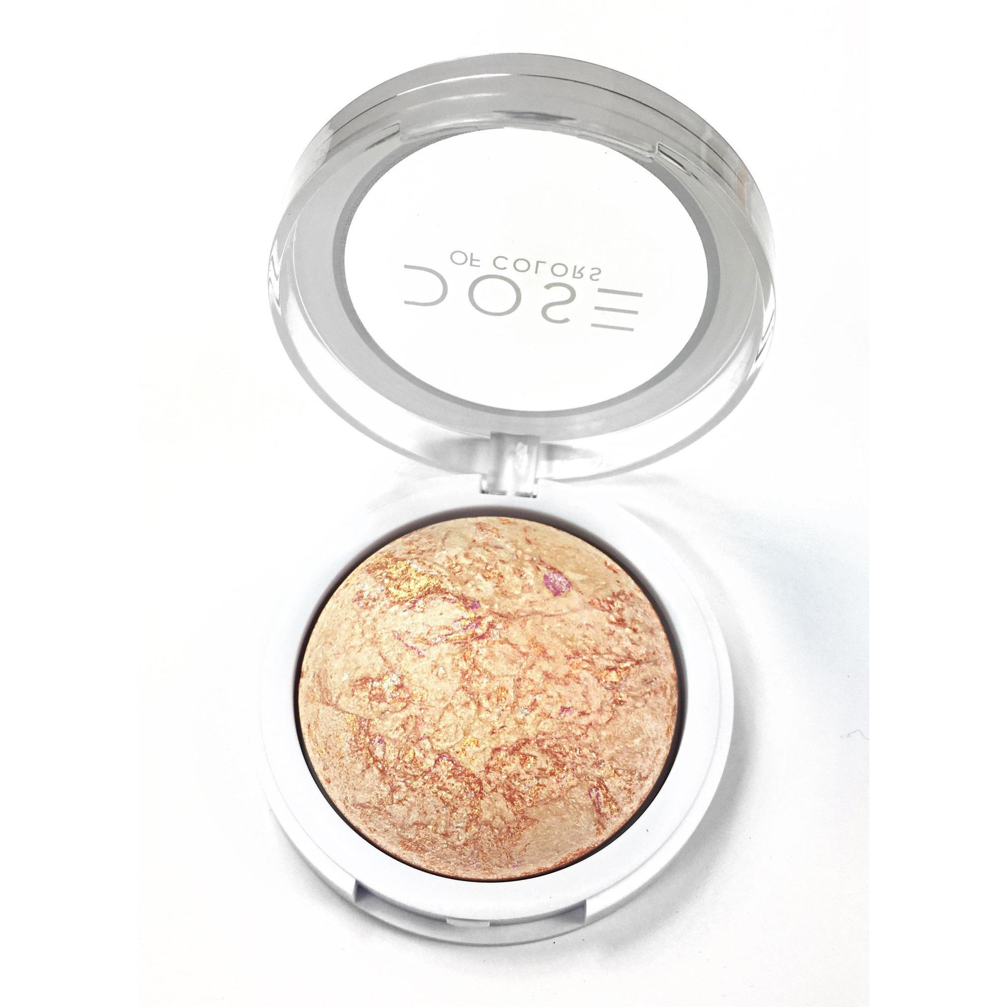 Dose Of Colors Baked Highlighter Peach Glow