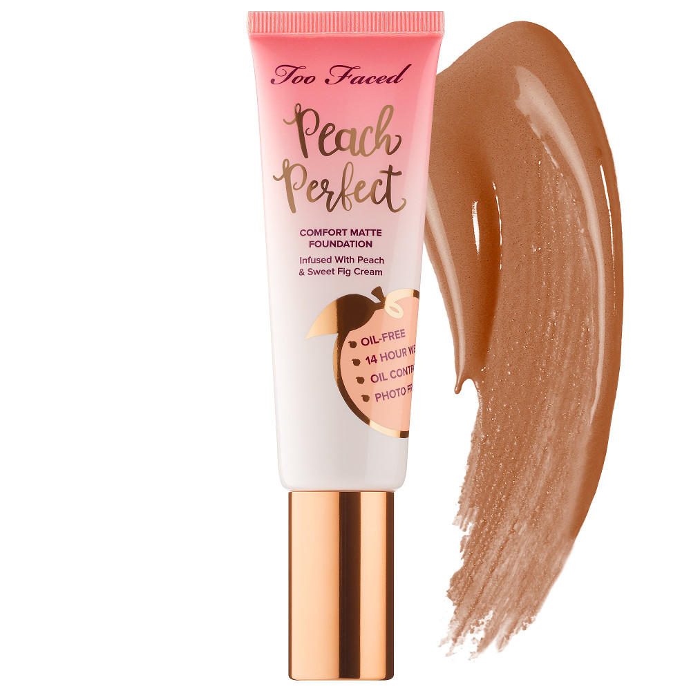 Too Faced Peach Perfect Comfort Matte Foundation Mahogany