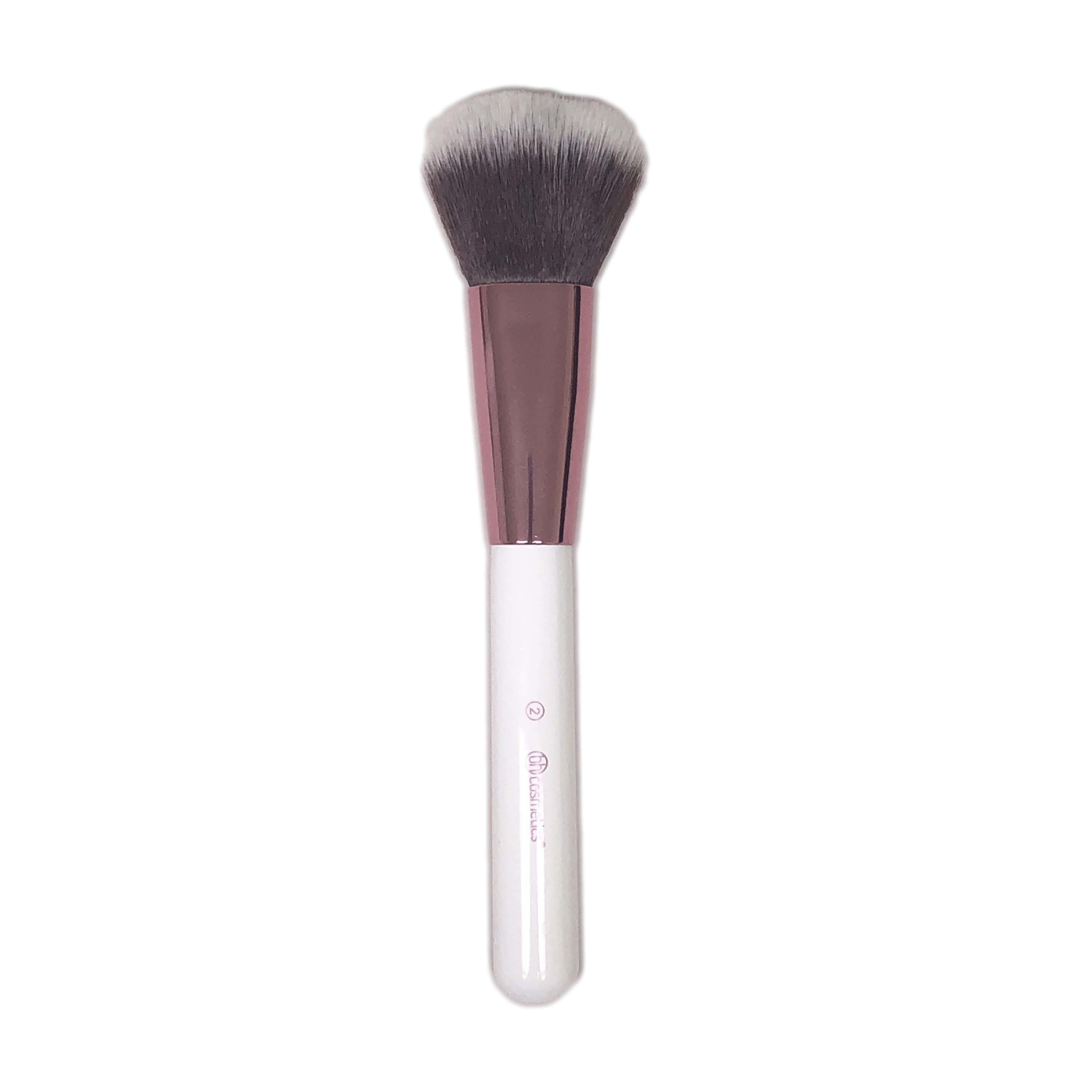BH Cosmetics Jumbo Round Top Fluffy Face Brush White