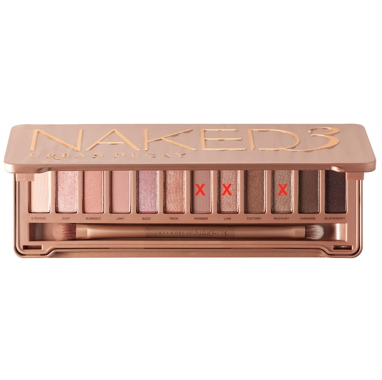 Urban Decay Naked3 Palette (without nooner, liar, mugshot)