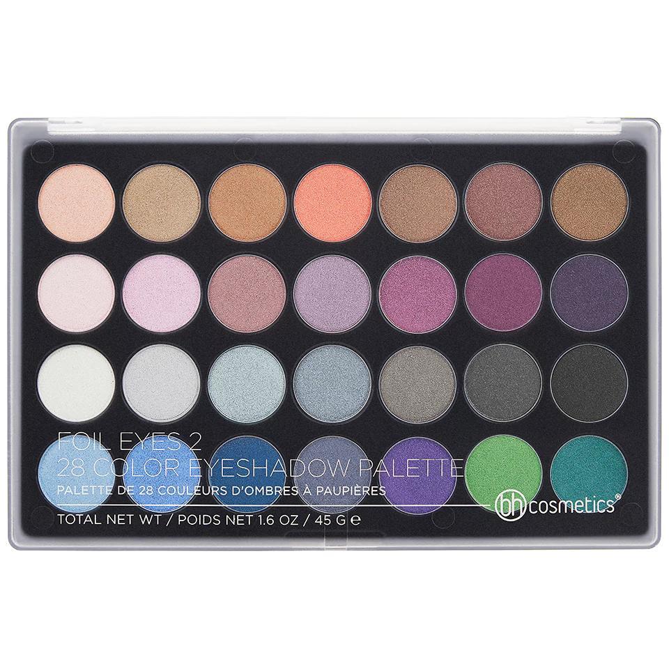 BH Cosmetics 28 Color Eyeshadow Palette Foil Eyes 2