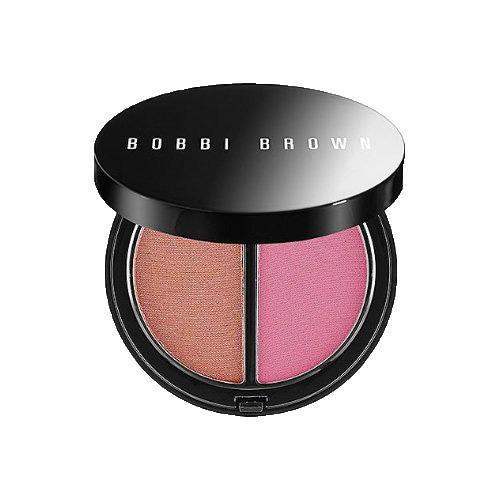 Bobbi Brown Bronzer/Blush Compact Duo Med. Bronzing Powder 02 Soft Pink Blush 7